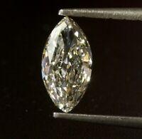 GIA loose certified 1.13ct SI1 J Marquise cut diamond estate vintage antique