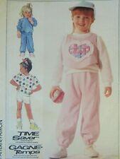 Sweet VTG 86 SIMPLICITY 7724 Girls Knit Top Vest Pants or Shorts PATTERN Lg/5-6