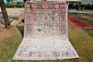 Stunning Natural Vegetable Dye Washable Turkish Oushak Contemporary Carpet