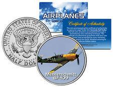 Messerschmitt Bf-109 * Airplane Series * Jfk Kennedy Half Dollar Us Coin