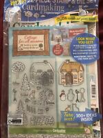 Cardmaking & Papercraft #203 1219 22 Piece Stamp & Die Set Winter Christmas Card
