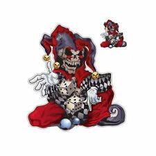 """Lethal Threat Jester Skull 2 Dices Car Truck SUV 6"""" x 8"""" US SELLER Pack of 2"""
