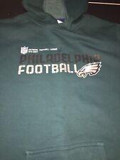 Philadelphia Eagles Football Reebok Green Hoodie Sweatshirt Size Youth XL