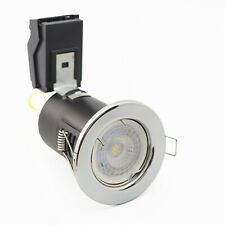 Downlights LED 6.5w Dimmable Fire Rated Recessed Chrome 6400k Samsung LED