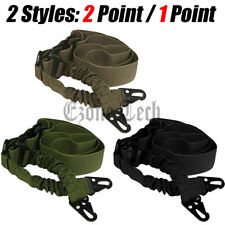 Heavy Duty Tactical 1 Single Point / 2 Point Gun Rifle Sling Strap Adjustable