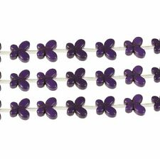 Purple 15x20mm Butterfly Chalk Turquoise Dyed 19 Beads