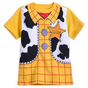 NWT Disney Store Toy Story Woody Costume Boy Short Sleeve T Shirt  many sizes