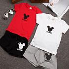 2pcs Cotton Boys Kids Short Sleeve T-shirt+Pants Outfits Summer Casual Clothes T