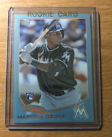2013 Topps Update Marcell Ozuna RC Wal Mart Blue Parallel Rookie SP US279