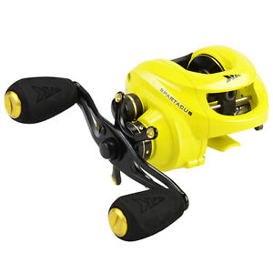 KastKing Spartacus Baitcast Fishing Reel Multicolour Baitcaster - Yellow/ Right