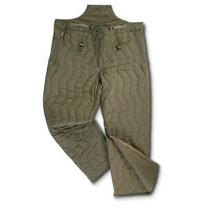 """Vintage German Army E.C.W Quilted pants liner Size XL, 40-44"""" waist, N.O.S."""