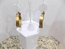 """Sundance Artist Renee Garvey """"R Garvey"""" Brass Hammered Hoop Earrings 10k"""