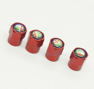 For Alfa Romeo 4x Red Car Accessories Wheel Cover Tire Valve Stem Caps Logo