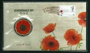 2011 Remembrance Day Foil PNC #1066 of 1111 $5 Red Poppy Coin Dated 11/11/11 UNC