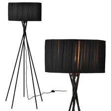 [lux.pro] Stehleuchte Schwarz [H:155cm] Stehlampe Standleuchte Bodenlampe Lampe
