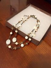 """NEW Silpada Mother of Pearl Sterling Silver Toggle 36"""" Necklace N1504"""