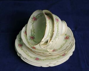 2x Shelley Late Foley Pattern Tea Cup Trios Some Damage