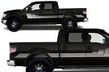 Custom Vinyl Decal Graphics Rally Stripe 3 Wrap for Ford F-150 2009-2014 SILVER