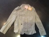 NWT Juicy Couture New & Gen. Beige Linen Blend Ladies Jacket Small UK Size 8/10
