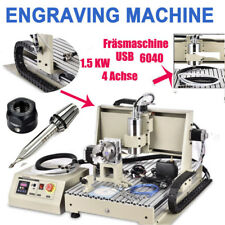 USB 1.5KW Spindle+VFD 4 Axis 6040Z CNC Router Engraver Milling Engraving Machine