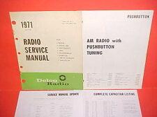 1971 CAMARO CHEVELLE SS EL CAMINO 442 FIREBIRD GTO DELCO AM RADIO SERVICE MANUAL