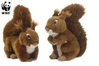 WWF Plüschtier Eichhörnchen (23cm) lebensecht Kuscheltier Stofftier 2 Varianten