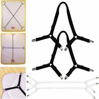 Bed Sheet Adjustable Suspenders 2 Pcs Crisscross Band Straps Grippers Mattress