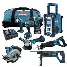 12tlg. Makita LXT 18V Akku Werkzeug Set +DGA504 RMJ Winkelschleifer +DHR241