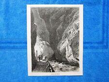 Gravure Année 1864 - L'abime de Pfafers(Suisse) - L'abisso di Pfafers(Svizzera)