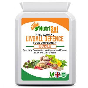NutriSol Health LivGall Defence - Liver & Gallbladder Support  60 Capsules