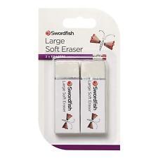 Eraser Q-Connect White PVC Eraser 60x22x11 mm x 1