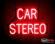 SpellBrite Ultra-Bright CAR STEREO Sign Neon look LED performance
