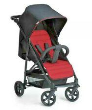 Hauck Rapid 4 Pushchair Birth to 22kg Stroller Cavier Red Black - Sleep Position