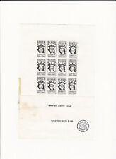 Harry Fox Tampa Kunst Post 1986 Mail Art Layout Sheet, Marking Liberty Atistamps
