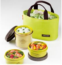[Lock&Lock] HPL745G Food Storage Container Round Small Lunch Box with bag Green
