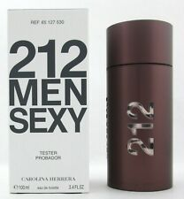 212 MEN SEXY Cologne by Carolina Herrera 3.4 oz. EDT Spray Tester Never used