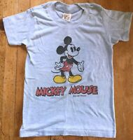 Vintage 70s 80s Tropix Togs Mickey Mouse Coming Going Children's Tshirt Size 6-8