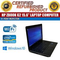 """C Grade HP ZBook 15 G2 15"""" Intel i7 16GB RAM 1TB HDD Win 10 NVIDIA Quadro K1100M"""