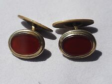 Vintage cufflinks Am.D RJ Glass (K 7)
