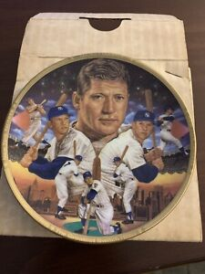 VTG 1989 Sports Impressions MICKEY MANTLE NY. Yankees Mini Plate  4 1/4""