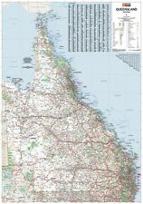 (LAMINATED) SUPER MAP OF QUEENSLAND STATE AUSTRALIA GIANT POSTER (100x140cm) ART