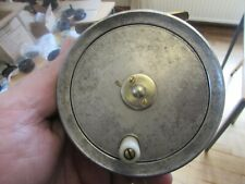 """excellent vintage JW youngs pattern 5 red agate trout fishing reel 3.5"""""""