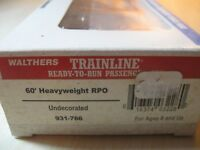 WALTHERS TRAINLINE ho 60' HEAVYWEIGHT RPO undecorated  #932-766