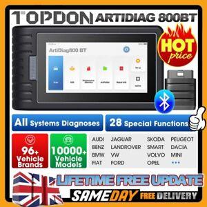 TOPDON AD800BT Bluetooth OBD2 Scanner ALL Diagnostic Tool Reset As Autel MK808BT