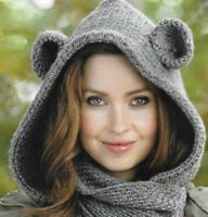 Cosy bear cowl (hat/scarf in one) crochet pattern Aran 380 NOT the completed hat
