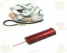 12 Bore Shotgun Laser Bore Sight + 12 Gauge Bore Snake Barrel Cleaner Combo UK
