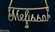 In Thicker Wire, Any Name ,14Kt Gold-Filled Hand-Made Name Necklace, Now