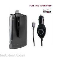 Verizon Holster Belt Clip&Car Charger 4 Blackberry Tour