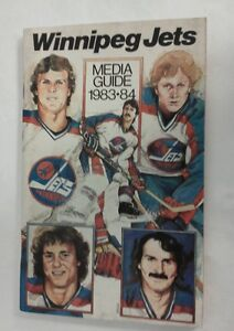 Vintage Hockey 1983-84 WINNIPEG JETS Media Guide Rare NHL