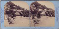 Pont E Seminario Da Betharam Pyrenees Stereo Lamy Vintage Albumina Ca 1870